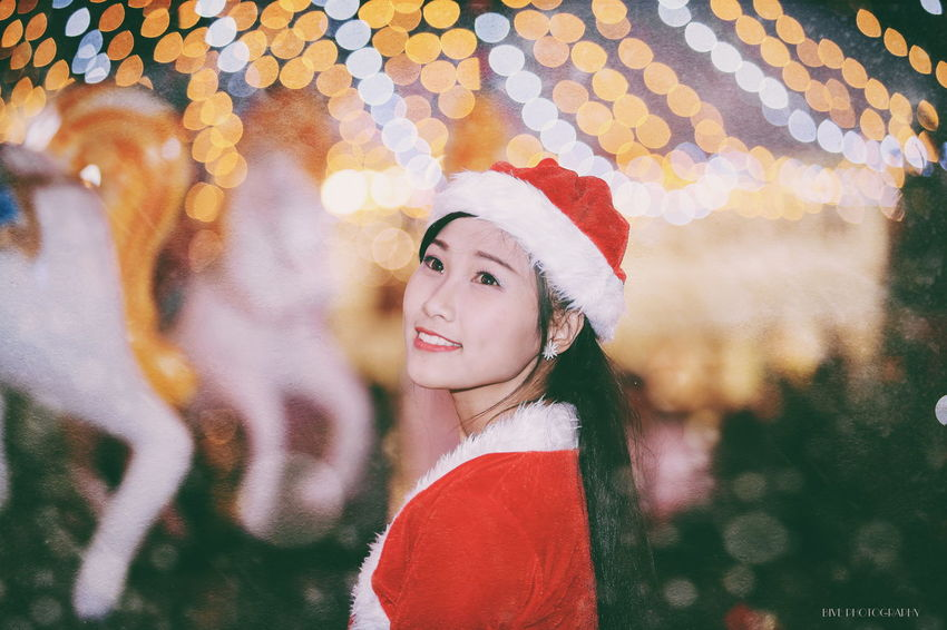 Night Portrait Winter Girls 80200 Canon 6D