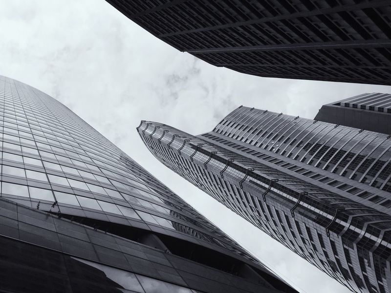Dramatic Angles Buildings Architecture Skyscraper Blackandwhite Photography Office Building Low Angle View City Tower Modern Building Exterior Built Structure Eyeem Philippines Welcome To Black The Architect - 2017 EyeEm Awards