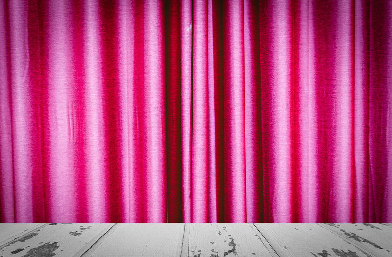 Pink curtain of stage theater