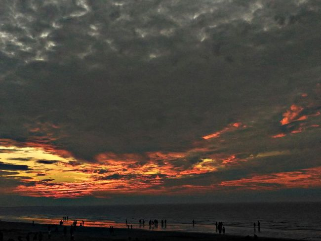 Sunset Beach Dramatic Sky Red Silhouette Sea Orange Color Vacations Outdoors Sun Landscape Nature Water Horizon Over Water Cloud - Sky Travel Destinations Low Tide No People Sky Beauty