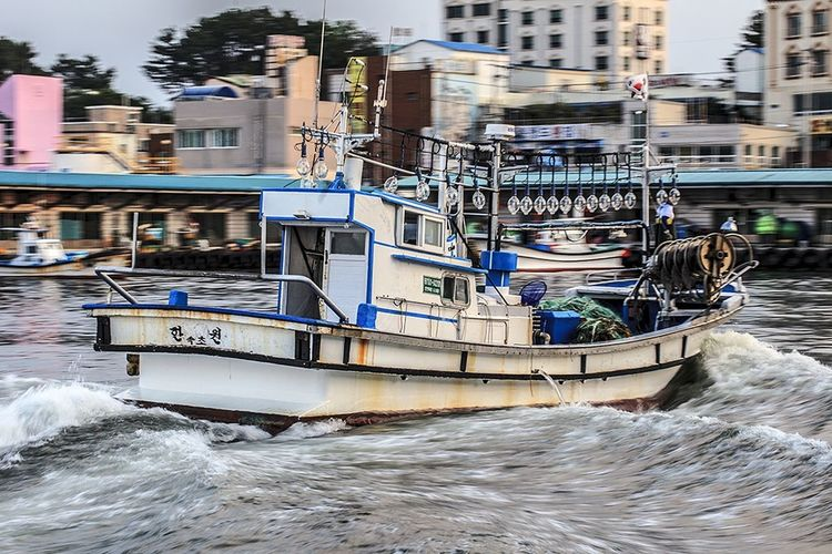 Fishing Boat Harbor Sokcho Gangwon-do Korea The East Sea Sea