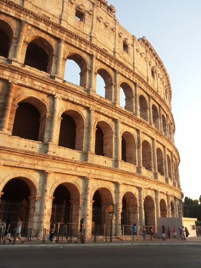 Low angle view of coliseum