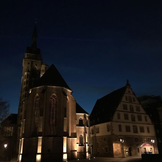 Church Cathedral Kirche Kirchengebäude Built Structure Building Exterior Architecture Building Night Place Of Worship Religion Sky Spirituality No People Nature Spire  Dusk Illuminated Tower Belief Low Angle View City