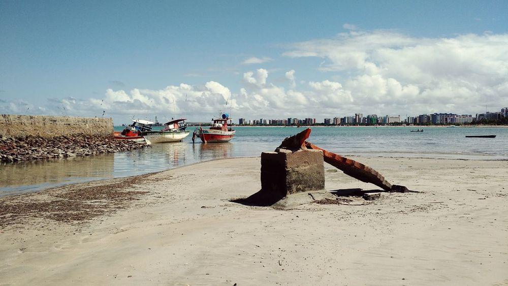 Enjoying The Sun Maceió Beach Shipping Docks Fishing Boat Fishing Taking Photos What I Value