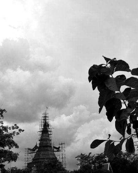 Cloud - Sky No People Outdoors Tree Sky Black And White Architecture Taking Photo