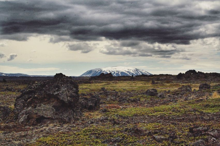 Iceland 💕 Landscape Cloud - Sky Mountain Nature Beauty In Nature Sky Scenics Tranquil Scene No People Tranquility Day Outdoors Travel Destinations Travel Iceland Dimmuborgir Volcanic Landscape Myvatn