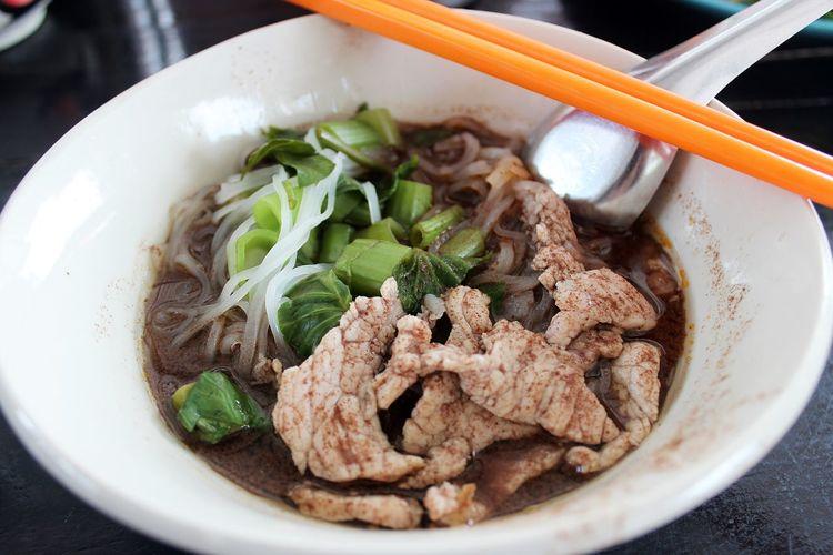 Thai boat noodle in nakhon nayok.