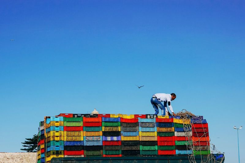 Crates Sky Clear Sky Blue Multi Colored Copy Space Nature No People The Street Photographer - 2018 EyeEm Awards The Traveler - 2018 EyeEm Awards
