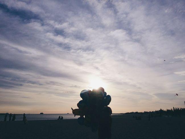 In Klebang, Malacca, Malaysia. Silhouette Sunset Sky Tranquility Beach Sea Malaysia Tourism Cloud - Sky Tumblr EyeEm Best Shots VSCO VSCO Cam Phone Photography PhonePhotography Day Cloudsporn Clouds And Sunset  Sunset Photography Sunset Silhouettes EyeEmNewHere The Week On EyeEm