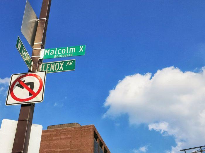 Cloud - Sky Guidance Lenox Malcolm X No People Road Sign Sky W125