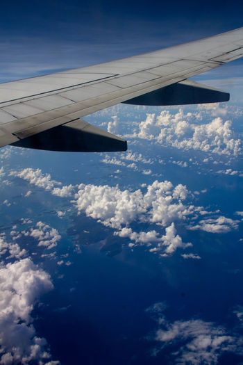 Aerial View Airplane Airplane Wing Cloud - Sky Flying Journey Transportation Travel