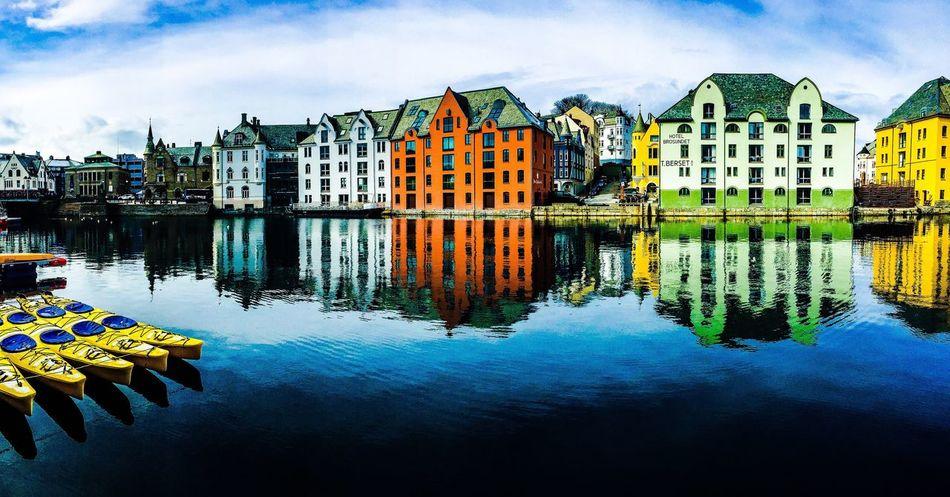 We are Ålesund, we are orange and blue. Visitnorway Ships House Of Bhullar Ålesund, Norway Opplevålesund Fort Bhullar Town City Harbour Norge Ålesundkommune