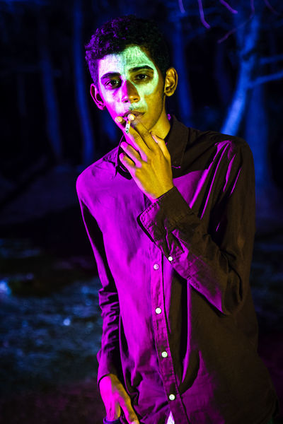 Colors Colorful Trees Men Horrorart Horror Photography People Boy People Photography Portrait Performance Performing Arts Event Face Paint Arts Culture And Entertainment