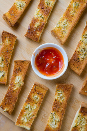 DIP Baked Baked Pastry Item Bread Bread Sticks  Breakfast Close-up Day DIP Directly Above Food Food And Drink Freshness Garlic Bread Healthy Eating High Angle View Indoors  Ketchup No People Ready-to-eat Spread Table Toasted Bread