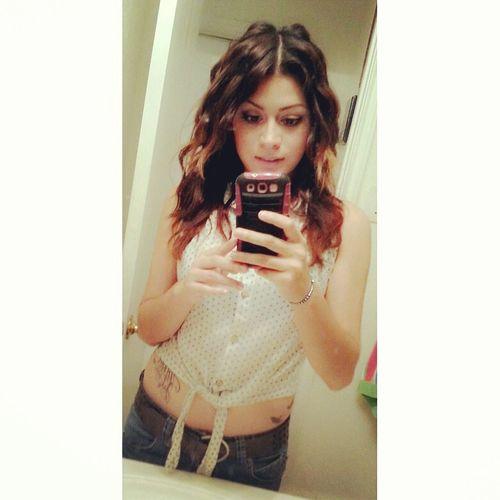 Few months ago, when I decided to do my hair like whatever xD Hairstyle CrazyHair Idc Idc Idc Im Cute
