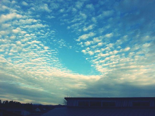 Clouds Blue Blue Sky Cloudporn Skyporn Fleecy Clouds