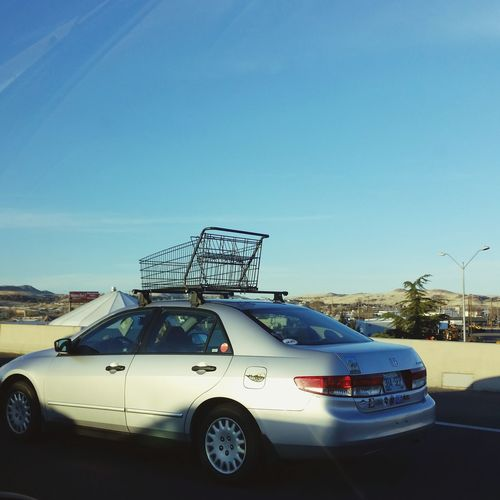I Like Your (Roof) Rack Shopping Cart Roof Rack Interesting People Are People Crash Sky Driving Car Point Of View