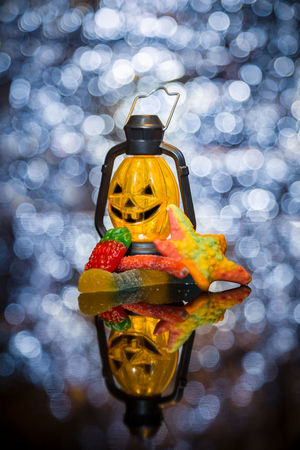 Halloween!!! Halloween Treats Bokeh Close-up Gummy Illuminated Lamp No People Sweets