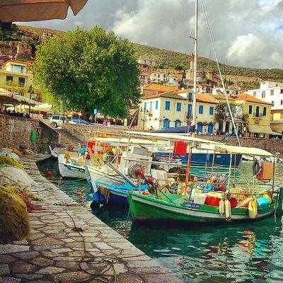 Napaktos Port In Greece Nafpaktos Seaside Fishboat City View  Enjoying Life Enjoying The View City Life Relax Time