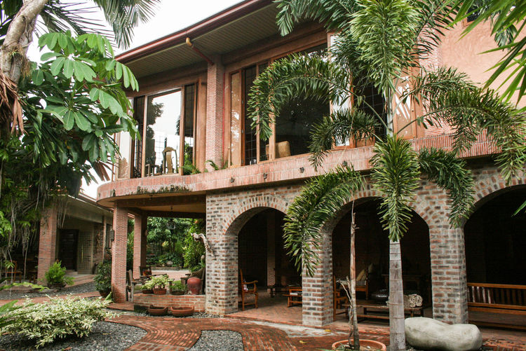 Arch Arches Architecture Building Exterior Built Structure Day Entrance Exterior Footpath Formal Garden Growth House Outdoors Philippines Plant Residential Building Residential Structure The Way Forward Tree