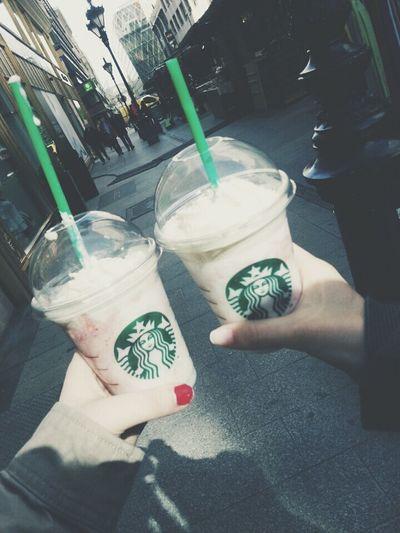 Starbucks <3 Lovelovelove Friend ♡ Budapest #memories
