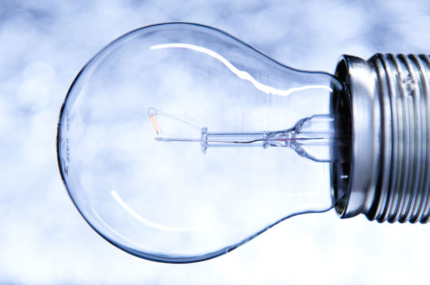 ZeitLicht_2017_03_9429 Blue Electric Bulb Electricity  Glass - Material Glass Light Glass Lighting Glass Objects  Glass Reflections High Contrast Light Bulb Metal Parts No People Orange Technic