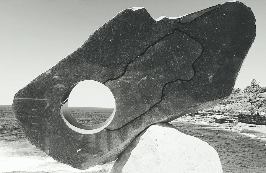 Sculpture By The Sea Black And White Photography Oceanview Outdoor Photography