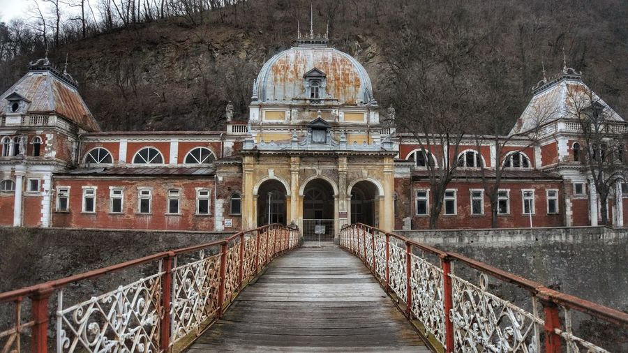 Travel Destinations Architecture Travel Tourism History No People Built Structure Arch Building Exterior Outdoors Dome Day Sky Bridge Romania Mehadia