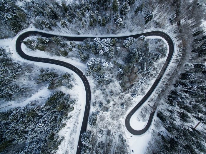 Winter Snow Blackforest Winding Road Winding Curves Curve Curvy Road Street Drone  Lookdown Eyesight Road Car Close-up The Great Outdoors - 2018 EyeEm Awards The Traveler - 2018 EyeEm Awards