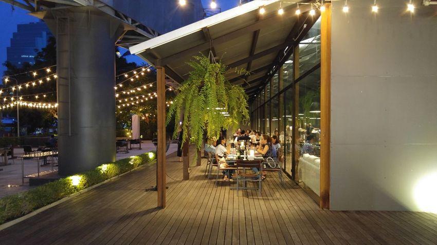 Chill Dinner Light Night River Rest Eat Restaurant Food Outdoors