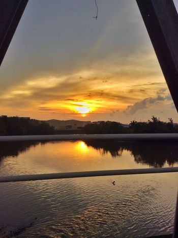 Roxas City's almost sunset. Roxas City Sunset Sky Bridge Water IPhoneography