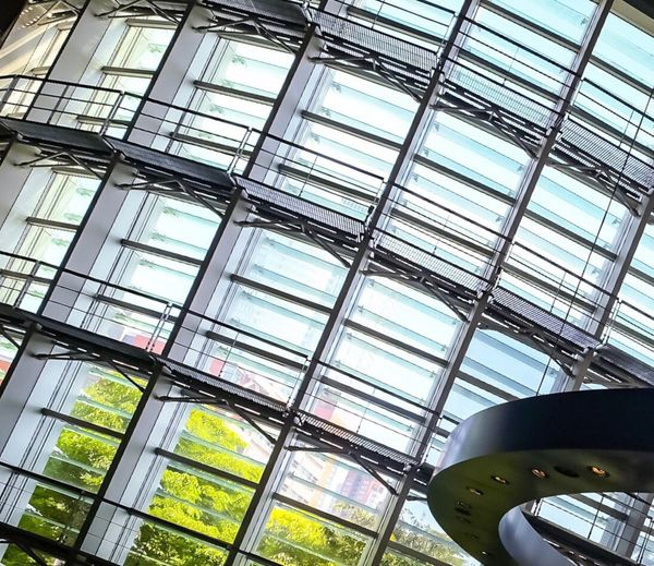 Windows Architecture Glass - Material Indoors  Built Structure Low Angle View Museum National Art Center Tokyo Tokyo,Japan Windows Windows_aroundtheworld Steel Modern Futuristic Sky
