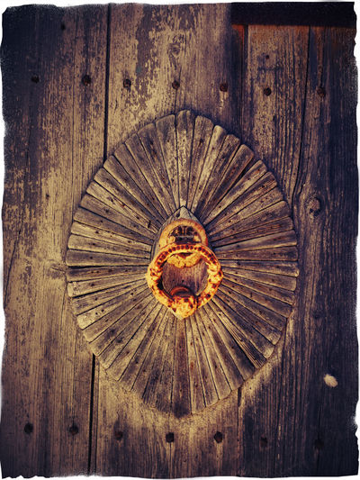 weathered wooden door with door knocker 2 Brown Color Brown Colour Ceiling Circle Close Up Close-up Concentric Directly Below Door Knocker Full Frame Geometric Shape Large Medieval Pharao Red Color Vibrant Color Weathered Weathered Wood Wood - Material Wood Door Wooden