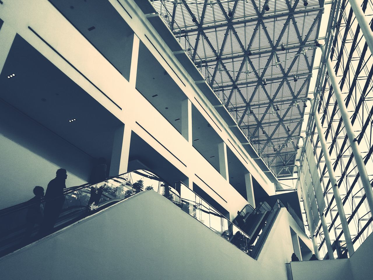 architecture, built structure, indoors, modern, low angle view, day, no people