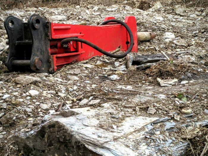 Rock breaker Hydraulic Hammer Machinery Rocky Landscape Kiomi Collection Mizen Peninsula West Cork Ireland