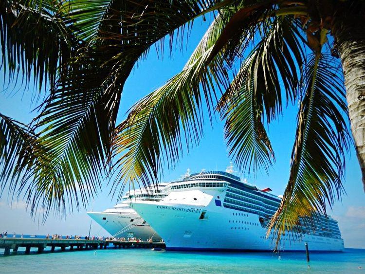Caribbean Sea Grandturk Ship Coastline Beachphotography Beach Palm Trees Traveling Beautiful Nature Seaside