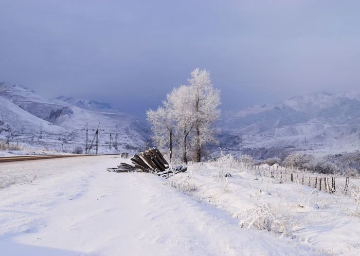 Caucasus Russia Travel Beauty In Nature Cold Temperature Day Landscape Mountain Nature No People Outdoors Scenics Sky Snow Snowdrift Snowing Tranquil Scene Tranquility Tree Weather White Color Winter Россия Shades Of Winter
