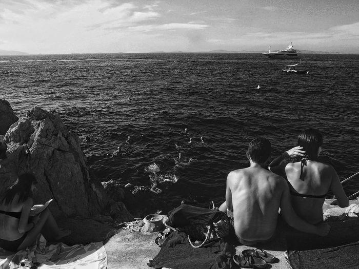 Protection Capri Biodola Black And WhiteBlackandwhite Black & White Sea