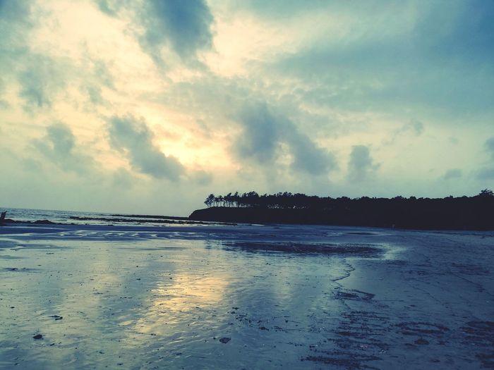 Kashid beach India Water Sea Beach Low Tide Summer Sky Horizon Over Water Landscape Cloud - Sky