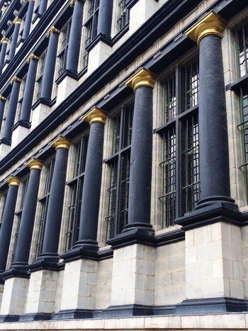 Columns And Pillars Elevation Classic Facade Belgium Ghent Europe City Architecture Contrast Windows The Architect - 2016 EyeEm Awards