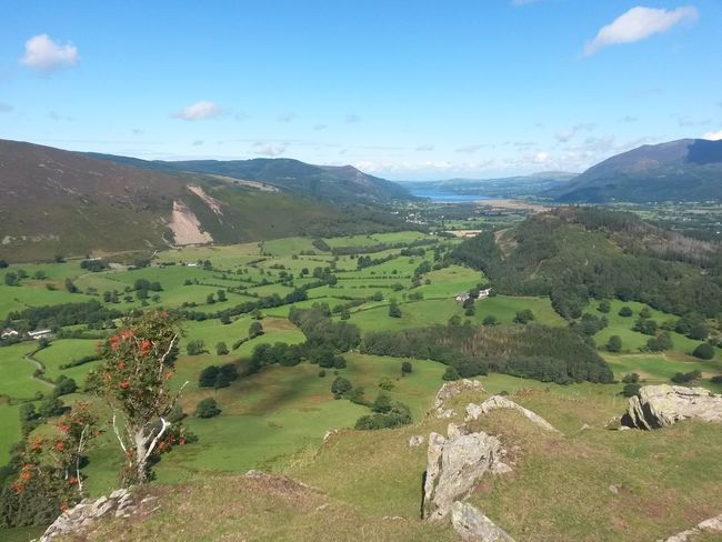Beauty In Nature Landscape Mountain Outdoors Nature Scenics No People Sky The Lake District  Blue Sky, White Clouds Pasture Rural Scene Tranquil Scene