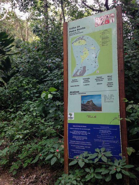 Início da trilha para Pedra Bonita Rio De Janeiro Floresta Rio Brasil Brazil