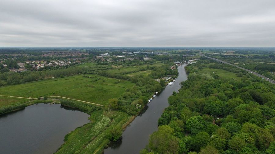 River Canal Canals And Waterways Tree Rural Scene Horizon Aerial View Planet Earth Agriculture Field Overcast Weather
