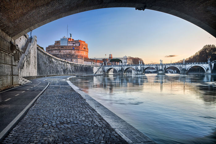 Castel Sant'Angelo, Rome, Italy Castel Sant'Angelo Roma Arch Arch Bridge Arched Architecture Bridge Bridge - Man Made Structure Building Exterior Built Structure City Connection History Nature No People Outdoors River Sant'angelo Sky The Past Transportation Travel Travel Destinations Water