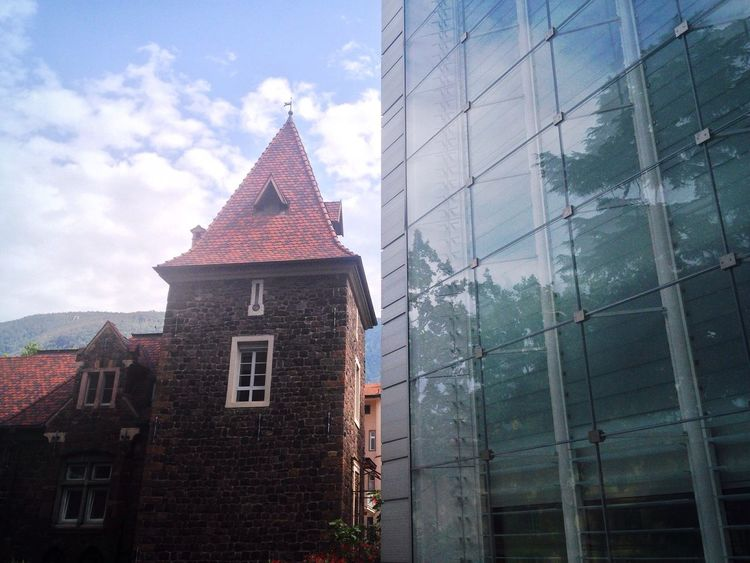 178/365 June 27 One Year Project 2017 Museion Bolzano Bolzano - Bozen South Tyrol Contrast Old And New Architecture The Architect - 2017 EyeEm Awards Architecture Building Exterior Built Structure No People Window Sky Day Outdoors City Glass Tower New And Old Old And New Italy
