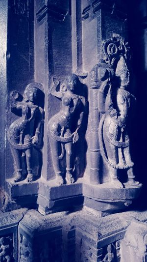Art And Craft Human Representation Sculpture Statue History No People Ancient Indoors  Ancient Civilization Close-up Be. Ready. Respect And Care What We Have Today Ancient Temple In India