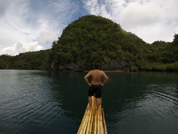 Bamboo raft Goproph  No Filter Beauty In Nature Cloud - Sky Day Gopro Goprohero5 Goprophotography Lagoon Leisure Activity Lifestyles Men Nature Noedit One Person Outdoors People Placid  Real People Rear View Scenics Shirtless Sky Tree Water Summer Exploratorium