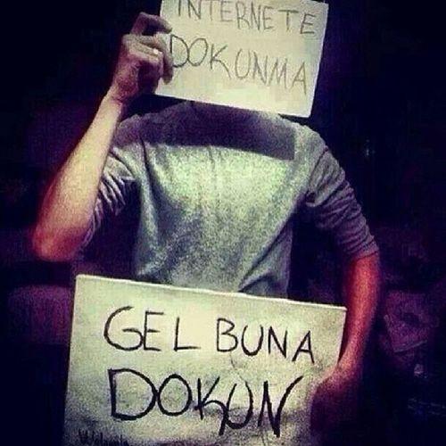 İnternetimiz islami koşullara göre kesilmiştir!!! Sansur Internetimedokunursan Internet Internetimedokunma oç tayyip