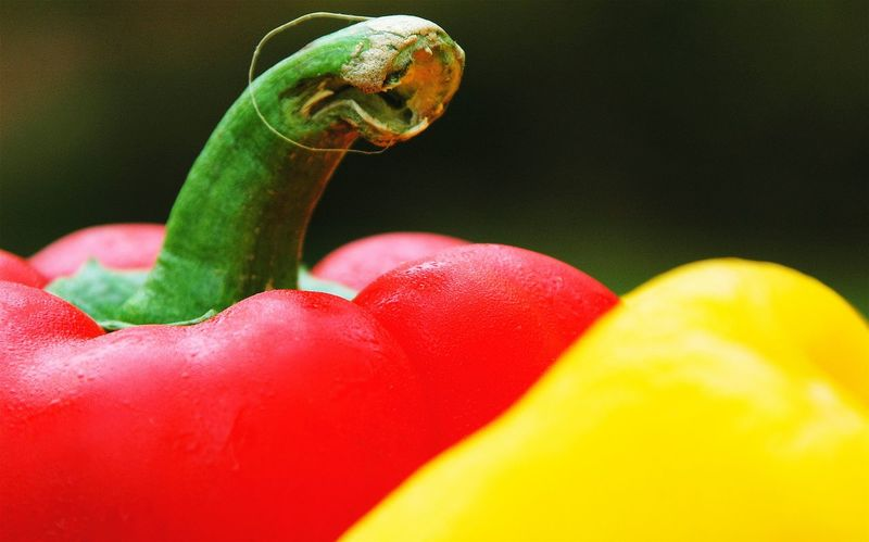 Food Red Bell Pepper Yellow Bell Pepper Vegetables Food Photography Capsicum Red Capsicum Yellow Capsicums