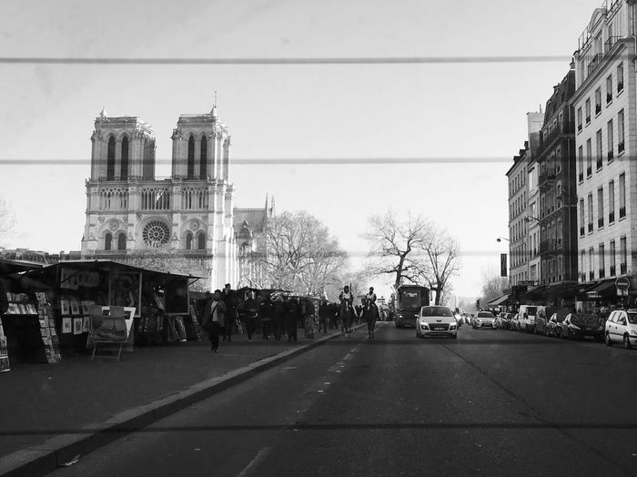 Paris Inside The Car Behind The Window Monument Notre Dame De Paris Cathedral Building Exterior Street Streetphotography Architecture City View  Cityscape Road Bnw_life Bnw EyeEm Best Shots - Black + White Blackandwhite Photography Blackandwhite Mmaff From My Point Of View Eye4photography  EyeEm Gallery Taking Photos Hello World